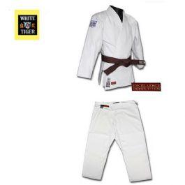 חליפת ג'ודו WHITE TIGER לבנה איכותית